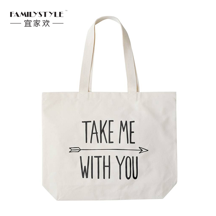 Small 12oz Cotton Canvas Tote Bag with Custom Logo