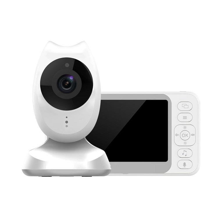 Eufy Pemantauan Video BabyMonitor, Penglihatan Malam Keamanan Tampilan 4.35 Inci, Pemutar Video Pengantar Tidur dengan Kamera dan Audio