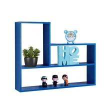 Color Azul montado <span class=keywords><strong>de</strong></span> <span class=keywords><strong>MDF</strong></span> <span class=keywords><strong>de</strong></span> madera decorativo <span class=keywords><strong>de</strong></span> pared flotante cubo estante