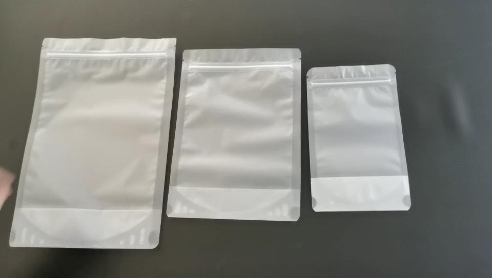 재사용 친환경 플라스틱 가방 Reclosable OPP 지퍼 식품 저장 가방
