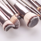 Brush Hot Selling Makeup Brush Set Champagne Glitter Wooden Handle 9 Pcs Eye Brush Make Up