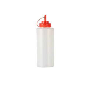 LDPE Dropper Empty Ketchup Disposable Plastic Soy Sauce Bottle with Tip