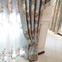 luxury automatic polyester fabric fancy window drapes industrial curtain