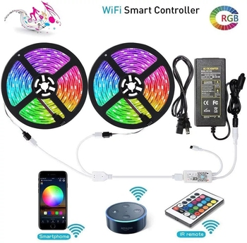 Hot selling Flexible with remote Controller led Light Strips 5m led strip light12V ST5050 RGB two roll IP65 led strip
