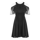 PUNK RAVE chiffon silk unique casual women summer dresses clothing chinese dress OPQ-307