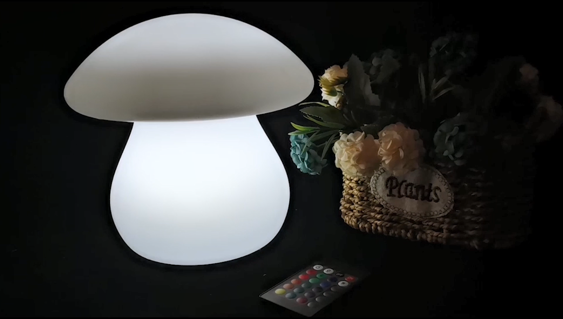 Rechargeable Battery Powered IP65 Waterproof Lighting LED mushroom lamp for Christmas Decorative LED Lights