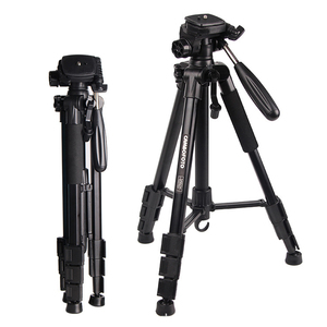 Camera Tripod Aluminum Max Height 140cm Lightweight Tripod & Monopod for Canon Nikon DSLR Video Shooting
