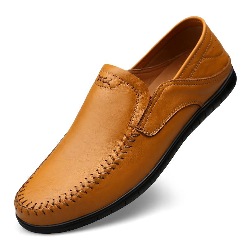 แฟชั่นผู้ชายขับรถรองเท้าหนังผู้ผลิต Casual loafer แบนสวมใส่ได้ง่าย