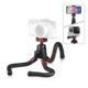 Sunrise 360 Degree Rotation Mini Foldable Flexible Octopus Travel Camera Mobile Phone Tripod with Quick Release Plate