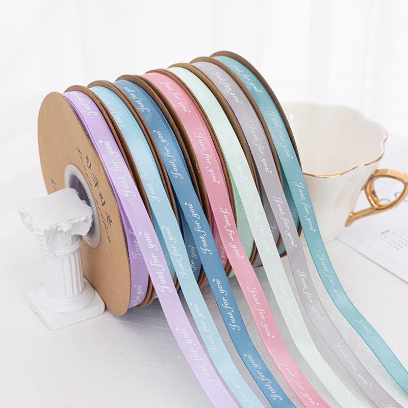 Wholesale Wrapping Ribbons Custom Double Face Satin Ribbon Printed Satin Ribbon With Logo