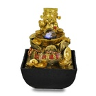 God of wealth, fengshui water fountain fortune god figurine gifts crafts