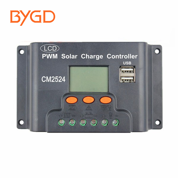 CM2024 PWM 12v/24v 20a solar charge controller with USB