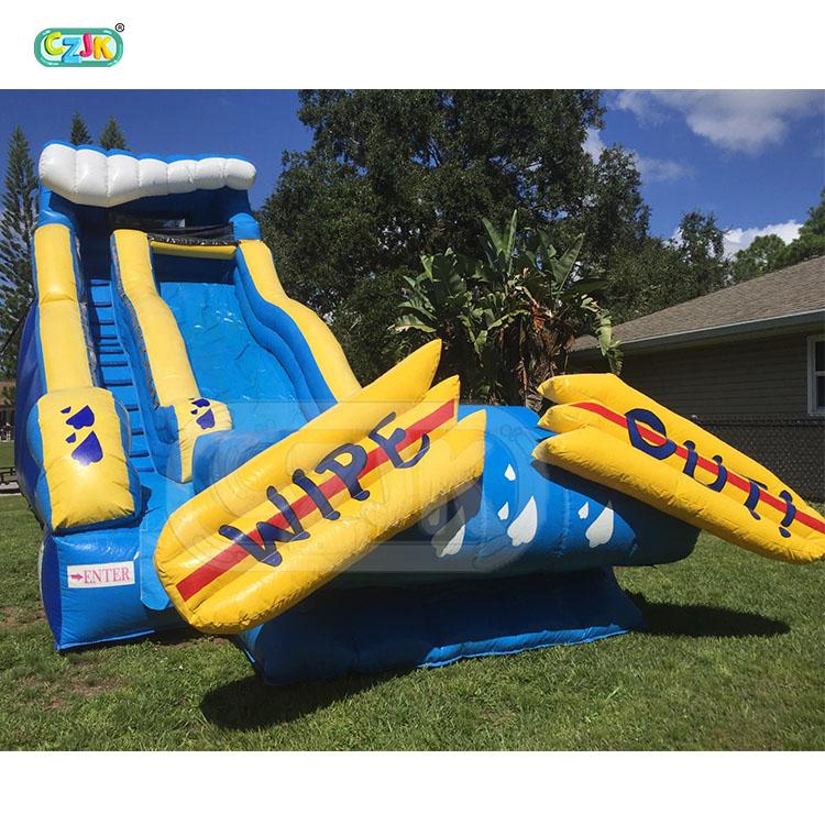 big flat fun pvc home wet yard kahuna inflatable water slide for sale