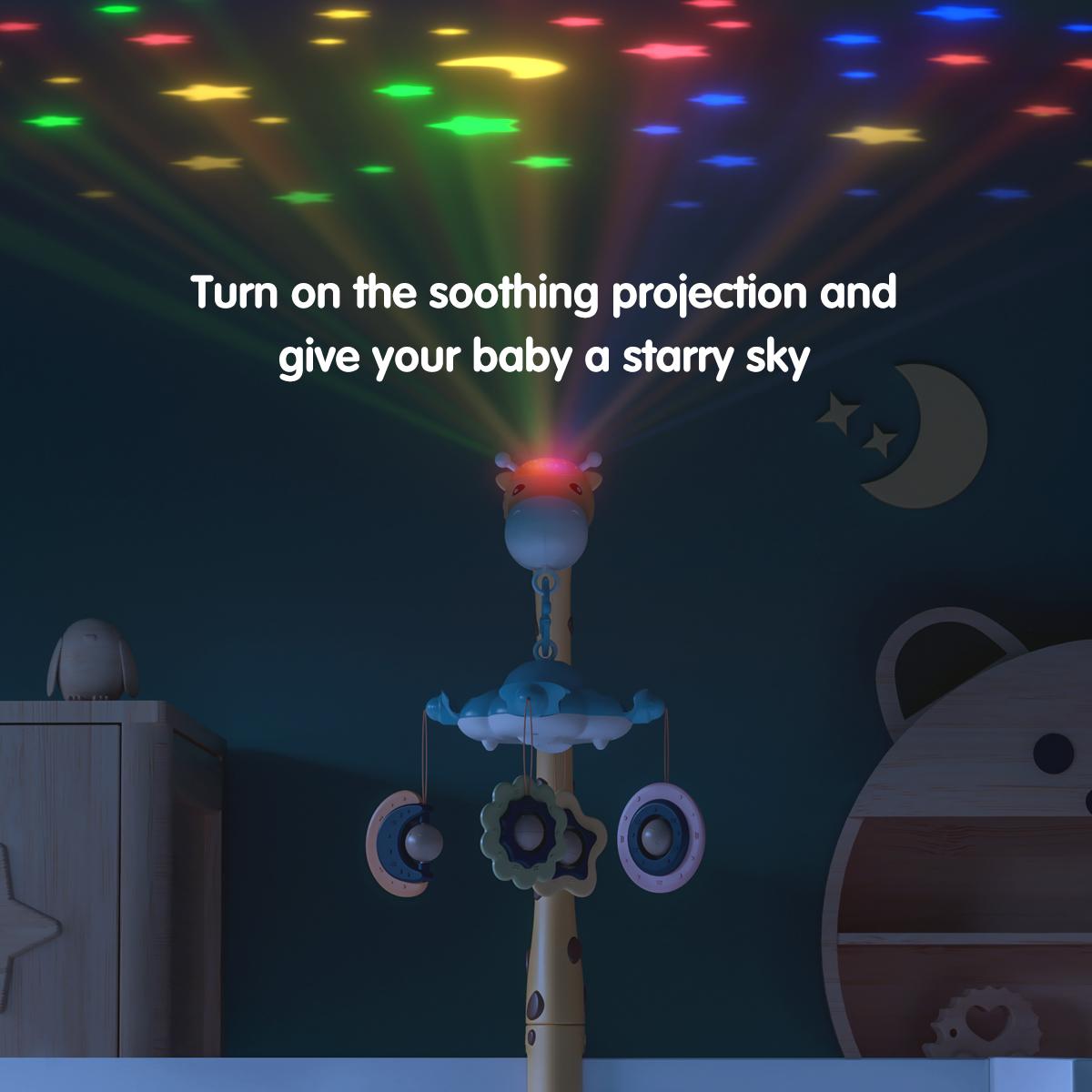 Tumama top sale 360 rotation Newborn Infant hanging giraffe crib toys musical Baby Mobiles