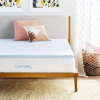 king Size 2.5 Inch Thick 3lb Density with Microfiber Fitted Cover and 18 Inch Skirt ,Gel Memory Foam Mattress Topper