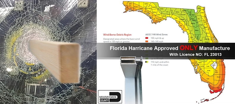 Miami Approved hurricane impact casement doors