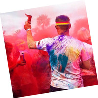 Newest product Confetti Cannon Holi Color powder Running Corn Flour Color Smoke Cannons