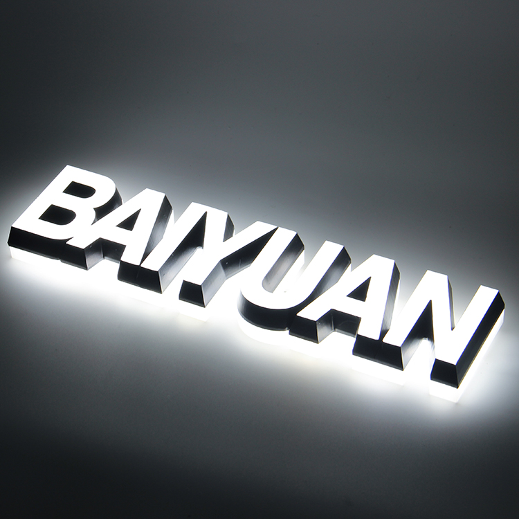 Custom Indoor Outdoor 3D Car 4S Store Logo With Brand Name Led Backlit Letter Light Sign
