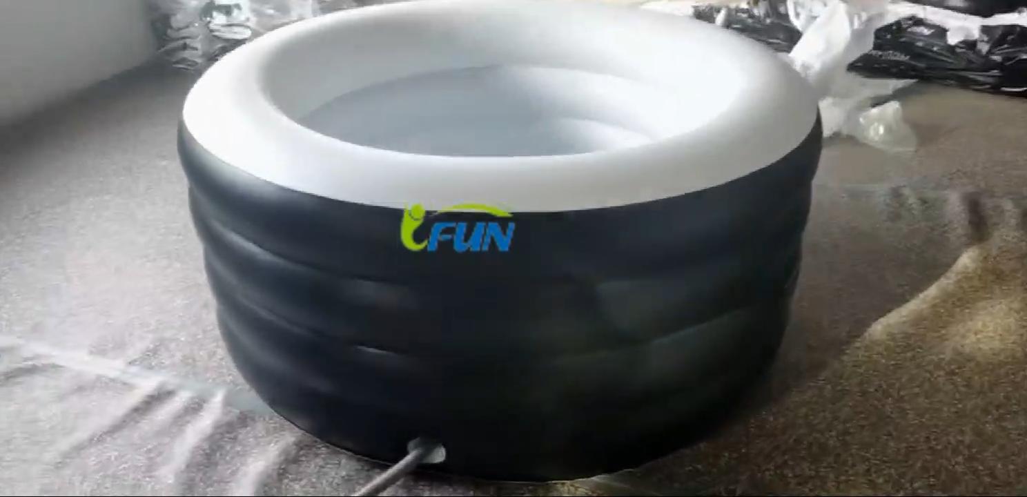 라운드 풍선 얼음 목욕/풍선 아이스 욕조/공기 얼음 욕조 펌프