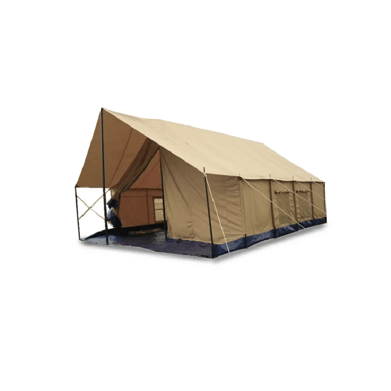 Single layer 100% cotton canvas tent outdoor party tent for 20 people