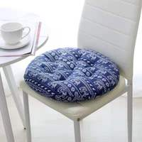 Custom Design Country Style Printed Flower Round Shaped Backrest Pillow Cushion Home Decorative Cushion