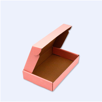 Structure accept customized Pink Color Mailer Box Cardboard Paper