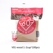 Фильтрующая кофейная бумага Hario V60, 1-4 чашки для специализированного кафе V60, дриппер бариста для Кофеварка Hario, оригинальные многоразовые фи...(Китай)