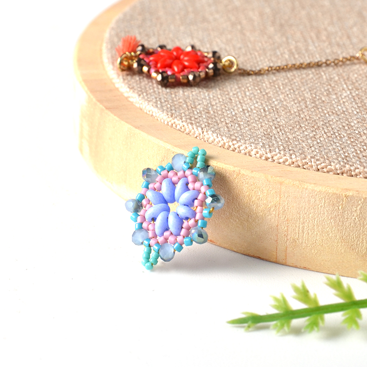 Miyuki delica seed beads fashion custom necklace pendant hawaiian jewelry wholesale