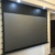 120 inch electric motorized pull down and up ceiling mount laser projector screen with the black crystal PVC ALR screen