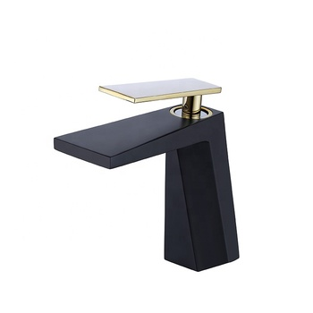 HOT SALES Hot And Cold Water Faucet The Black and gold Faucet Ordinary tap