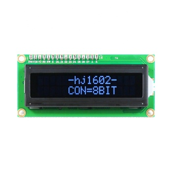 5V Screen Digital LCD 16x2 Blue Character Dot Matrix 1602 Blue Display Module Black Background Parallel Port Electronic Board
