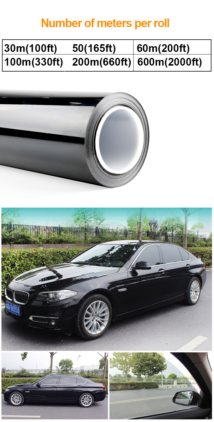 IR Window Tint UV400 Nano Ceramic Solar Film VLT13% IR Reduction 85% 1.52mX30m