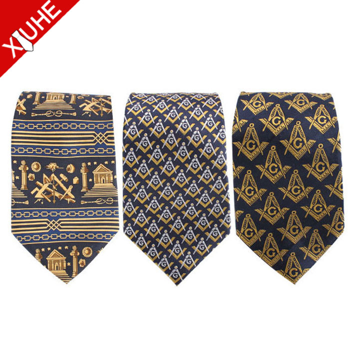 wholesale custom silk mens freemason tie masonic necktie