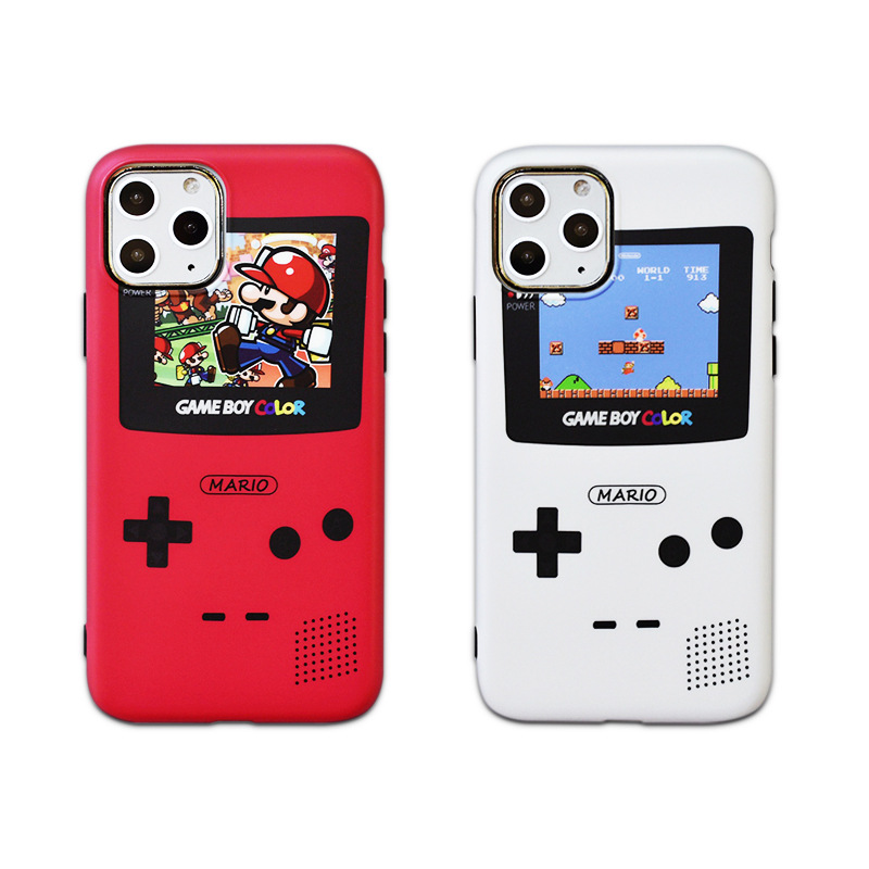 Cute Mario Classic Gameboy Print Phone Case For iPhone 11 11Pro <strong>Max</strong> X Xs 7 8 Realistic Game player