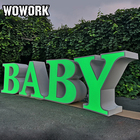 Table WOWORK Custom Birthday Baby Shower Decoration Metal LOVE ONE BABY Letter Table For Wedding Event And Party Props