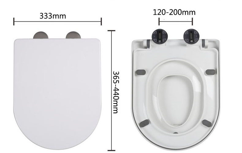Plastic ( PP ) Soft Close White Quick Release WC Baby Mother Toilet Seat Covers / Children Kids Toilet Seat