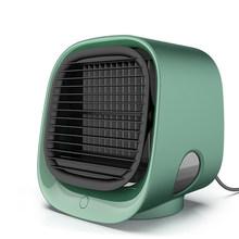 Мини-вентилятор для охлаждения воздуха настольный мини-кондиционер с ночным светильник USB вентилятор для водяного охлаждения очиститель в...(Китай)