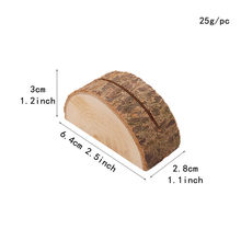 1 шт., оригинальный деревянный держатель для карт, полукруглая подставка для фото, Свадебная вечеринка, натуральный пень, зажим для картин, с...(Китай)