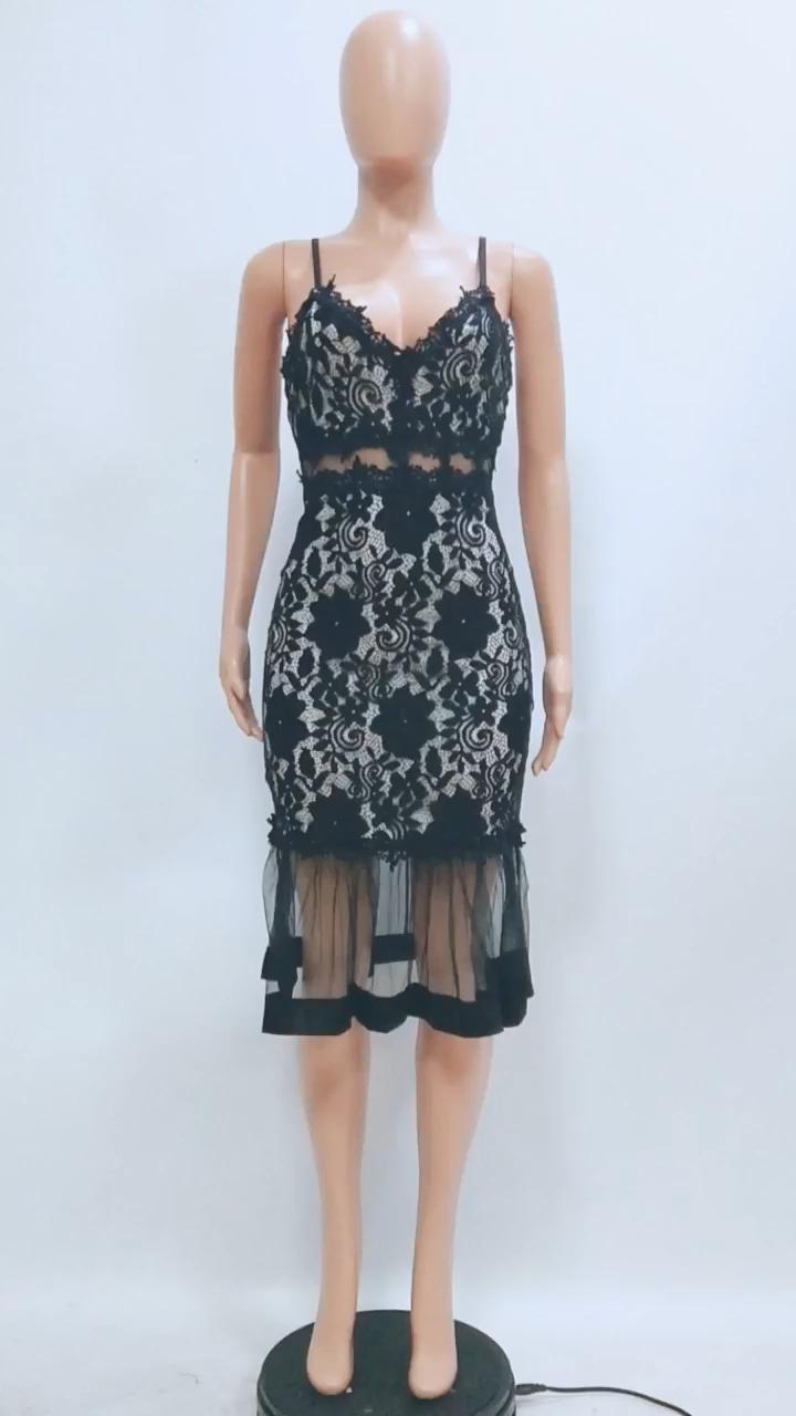 CXSD1002 2 adet adedi kemerli elbise 2020 rahat dantel kadın elbiseler yaz yeni moda kadınlar zarif elbise kolsuz bayan elbise