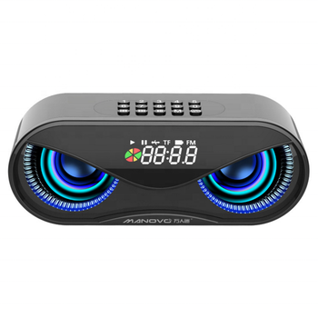 Bluetooth Speaker Owl Shape LED Flash Wireless Subwoofer with FM Radio Alarm Clock TF Card Support Select Songs By Number