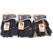 Marley Braids <span class=keywords><strong>헤어</strong></span> 익스텐션 Synthetic Ombre Afro Kinky Crochet Braiding Hair Crochet Braids 대량