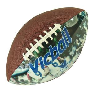 photo rugby balls size 5 official machine stitched custom design pu picture leather american football ball