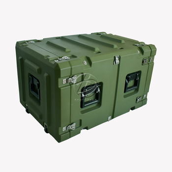 High Quality Wholesale Custom Cheap 19 inch 8u military flight rack case