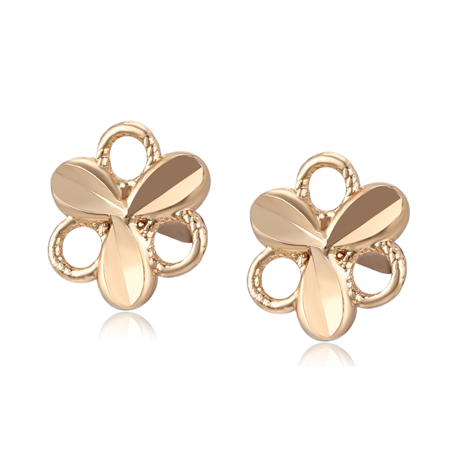 99468 xuping fashion 18K <strong>gold</strong> color copper alloy hollow <strong>flower</strong> shape stud <strong>earring</strong> for women