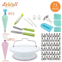 Cake rotating turntable decorate tool 73 pieces decorating kit cake accessories decorations