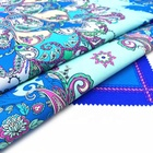 Digital printing 95 Cotton 5 Spandex cotton lycra fabric for woven scarf