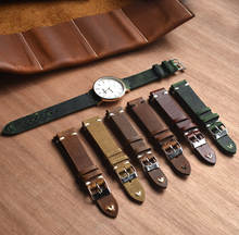18mm 20mm 22mm 24mm Fashion Vintage  Genuine Leather Watch Band Factory Quick Release  Women Men Cowhide Leather Watch Band