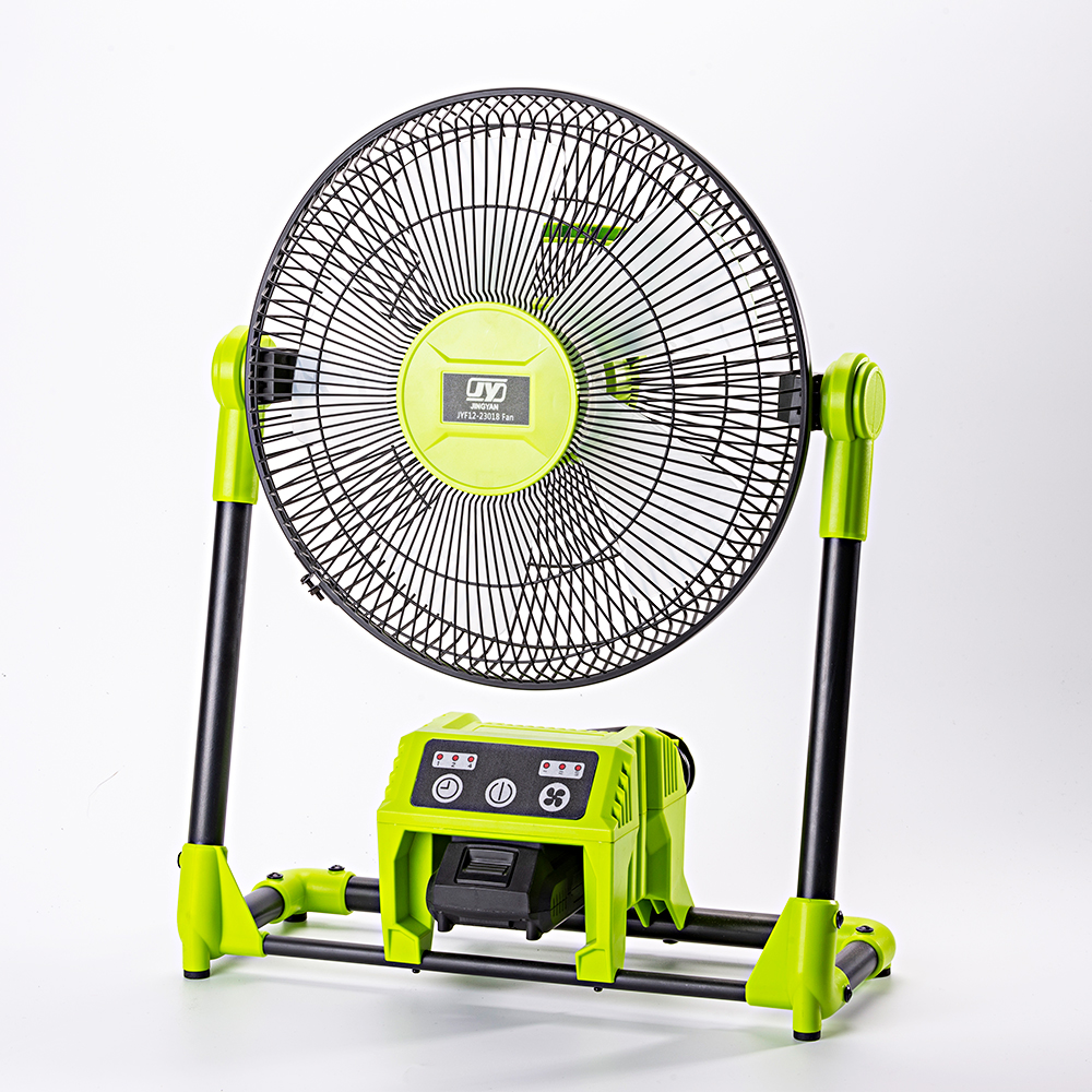 18V Hybrid Battery or <strong>AC</strong> Powered Adjustable Indoor / Outdoor Cordless Fan for Jobsite (Battery and Charger Not Included / Fan