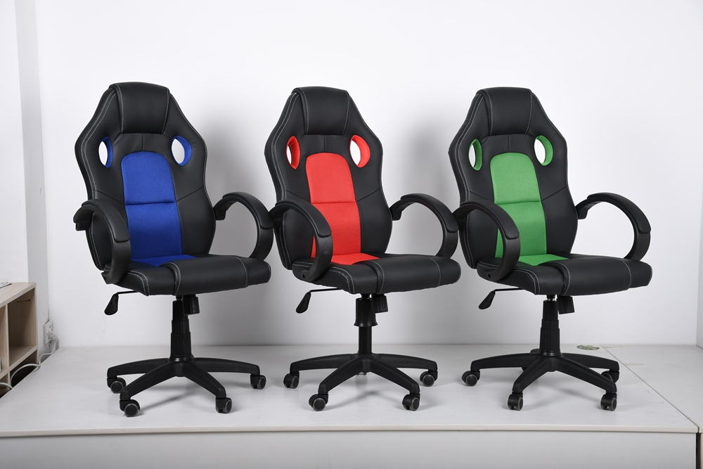 China Supplies cheap commerical office furniture PU Leather swivel racing chair Simple Cool Computer Racing Chairs