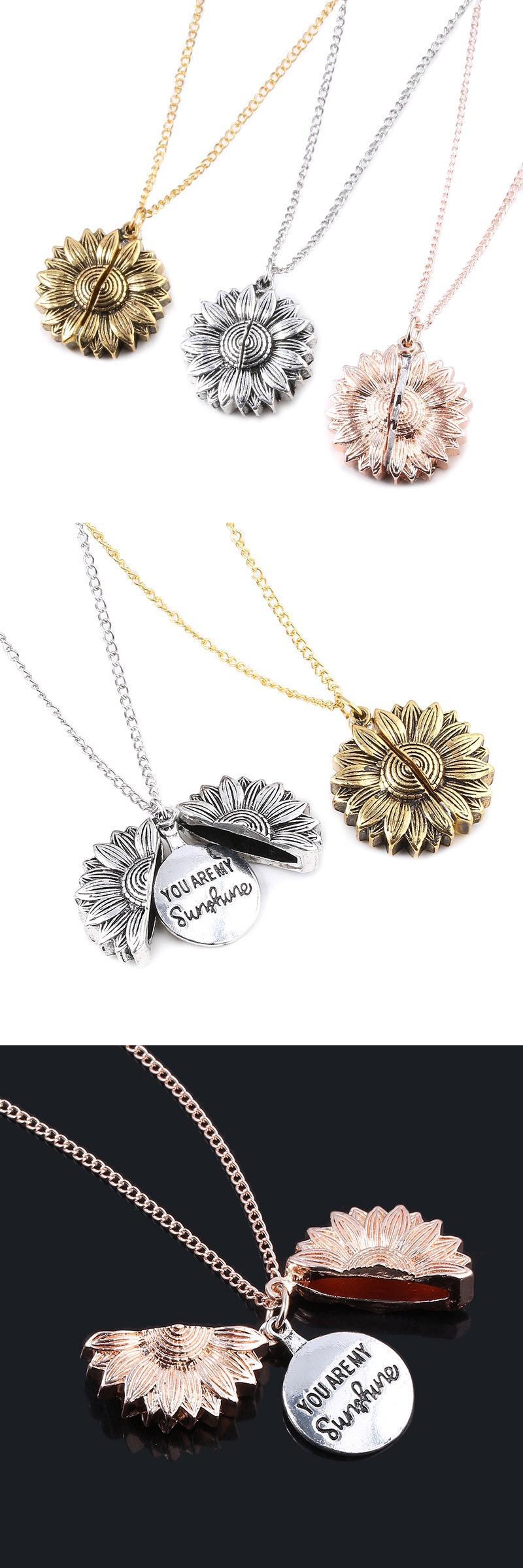 Модные украшения женский Девушка сплав в форме цветка двойной слой цепи ювелирные изделия цепи